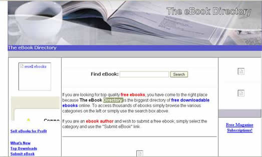 ebookdirectory:Browse and download lots of free ebooks