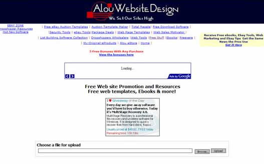 Alou website design: Lots of free resources for a web developer- free dowloadable, software, free ebooks etc