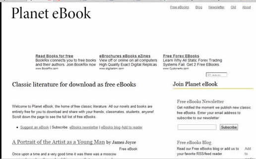 planet ebooks: Browse and download Lots free classic literature and novels.