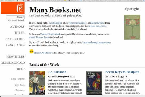 manybooks.net: Lots of free classics books (over 20,000 free ebooks) available for free download.- Fiction works, non fiction works, fantasy works, prose, poems, and other classics