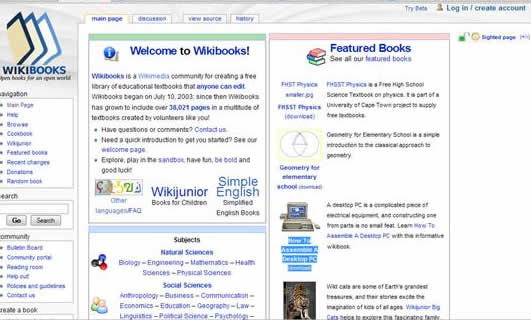 wikibooks: Over 35 000 free downloadable and editable educational textbooks,