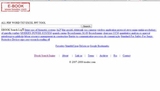 Toodoc:Search the web for free ebooks in pdf, excel, powerpoint and word and other ebook formats and extensions