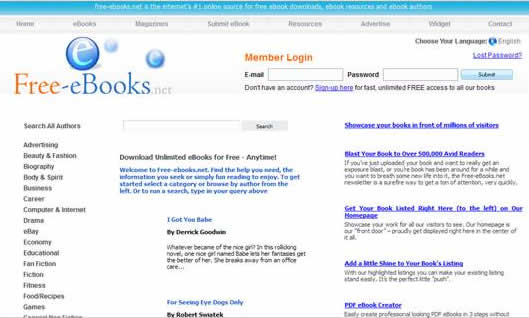 Lots of different categorized ebooks free for download